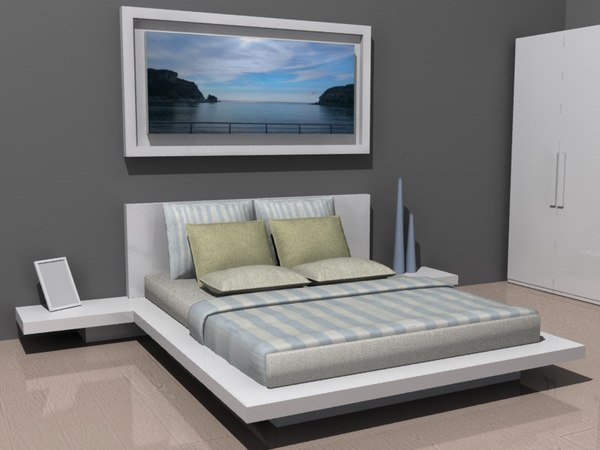 3D bedroom suite