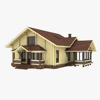 3D chalet house model