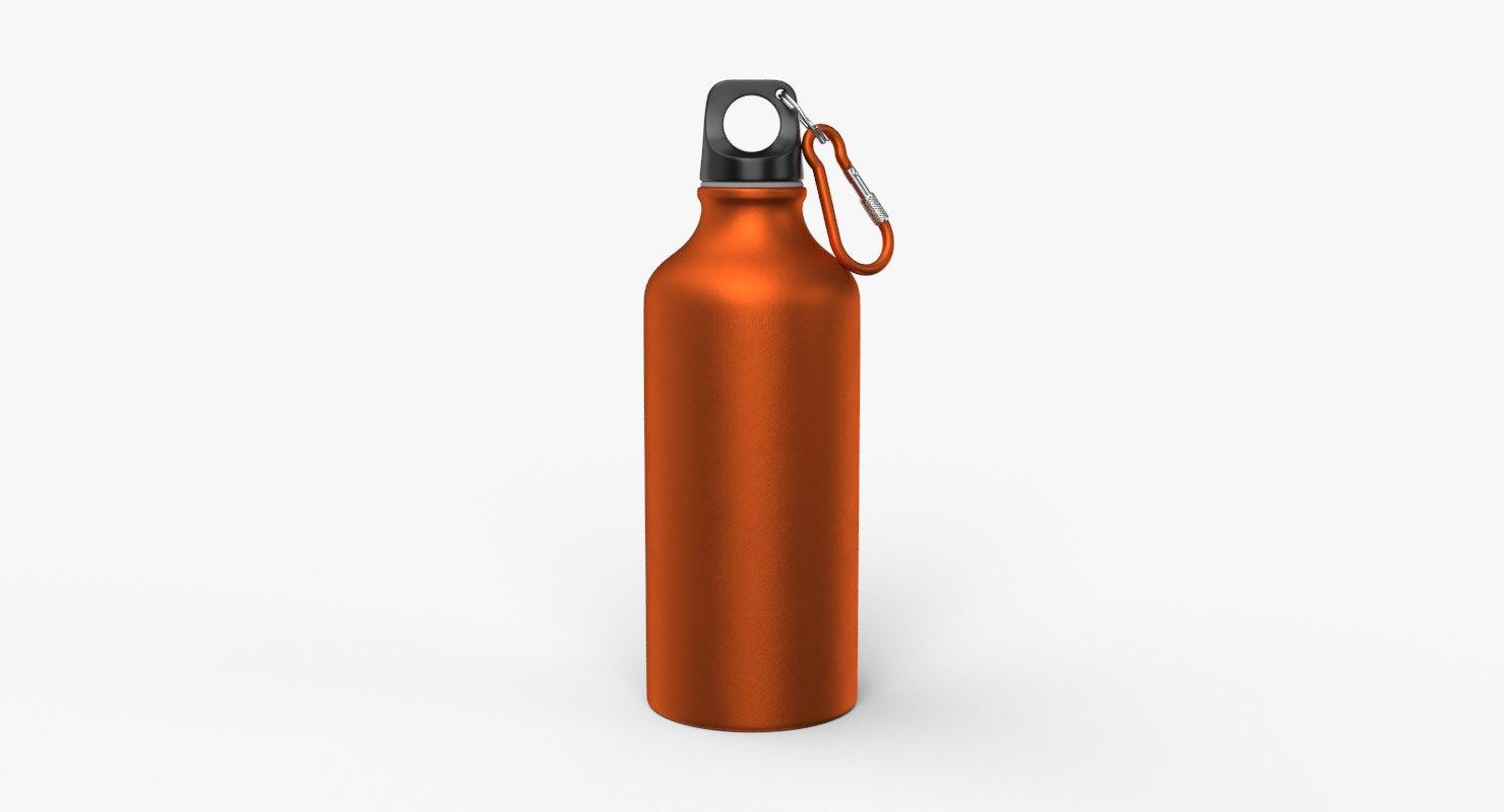 aluminum water bottle 3D