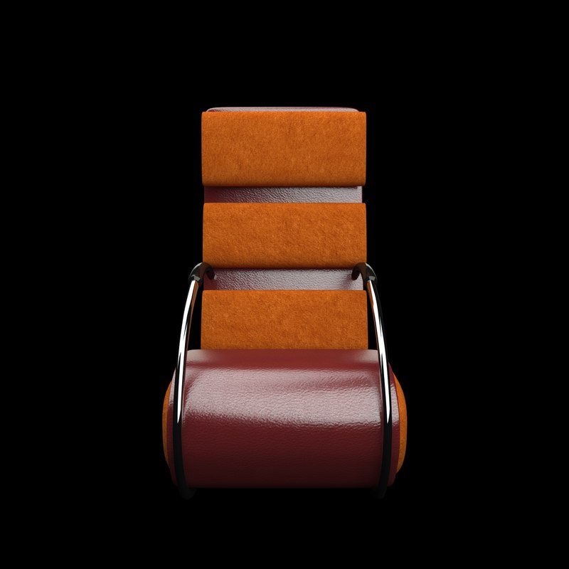 3D resolution leather chair