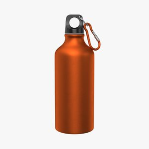 aluminum water bottle 3D