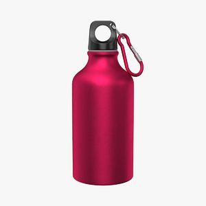 3D model aluminum water bottle