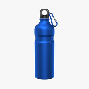 3D aluminum water bottle model