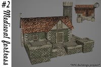 medieval fortress buildings 3D model