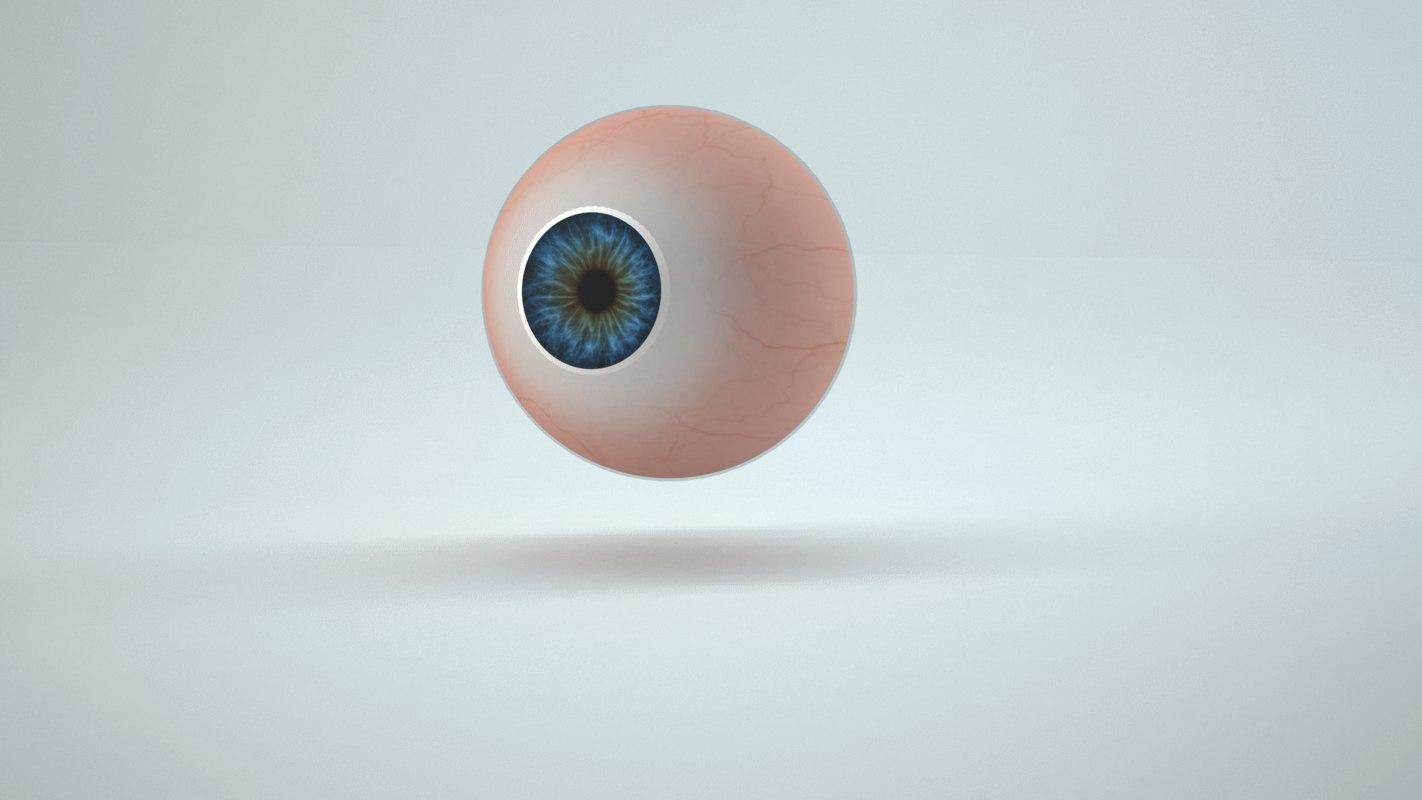 3D realistic human eye model