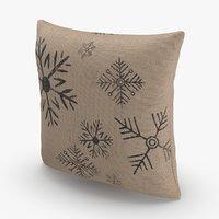 Christmas Pillows Brown Snowflake