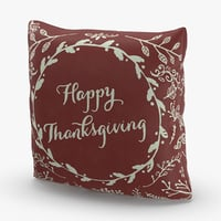 christmas-pillows---red-thanksgiving 3D model