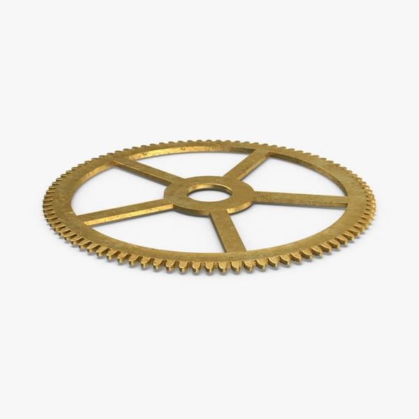 3D model clock-gears-03---gear-v1