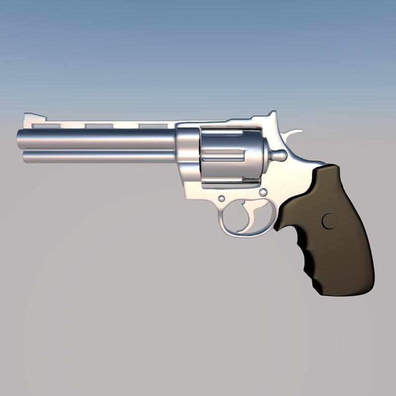 3D revolver magnum