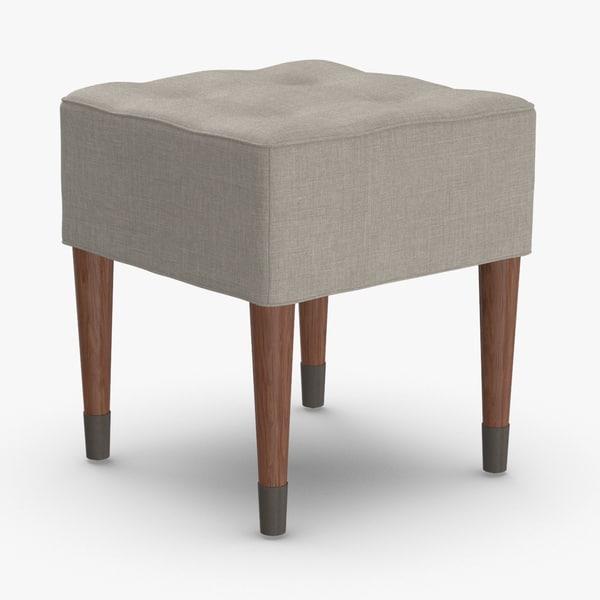 3D mid-century-modern-stool