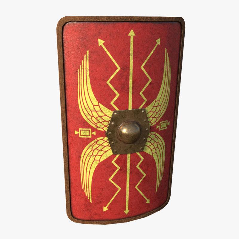 3D roman shield -