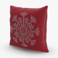Christmas Pillows Red Snowflake