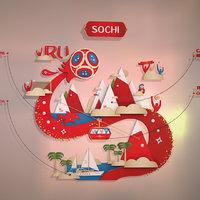 style 2018 sochi russia 3D model
