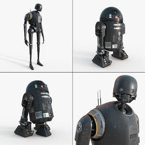 star wars k-2so c2-b5 3d model