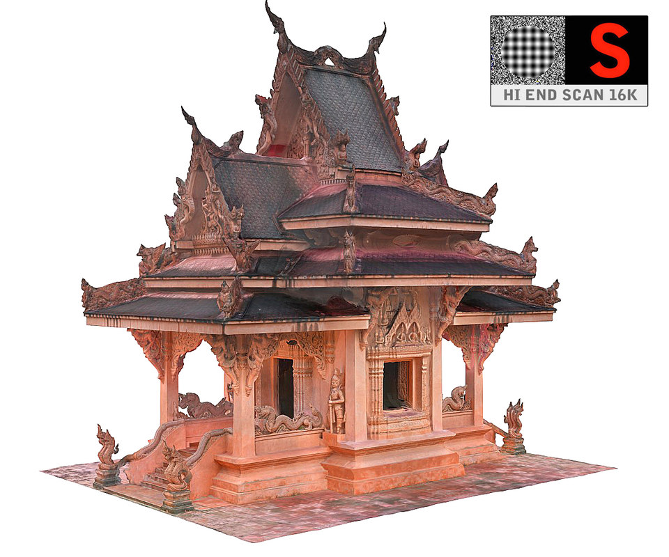 3D ancient temple 16 k model
