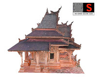 ancient temple model