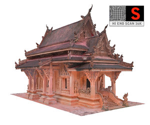 ancient temple 16 k 3D model