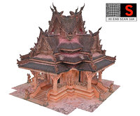 3D ancient temple