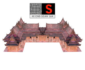 ancient temple 3D model