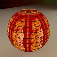 chinesered lantern model