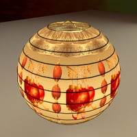 chinesered lantern 3D