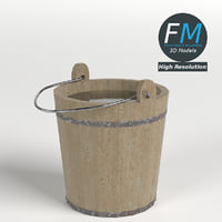 3D wooden bucket hr