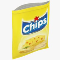 chips pack 3D model