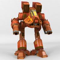 3D mech reaver model