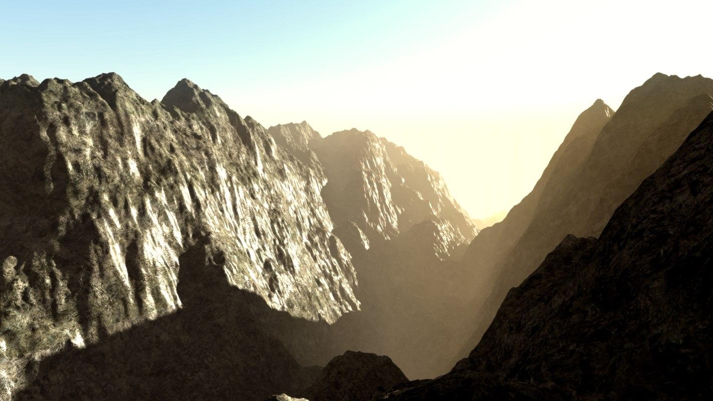 landscape valleys 3D model