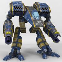 3D mech tigercat model