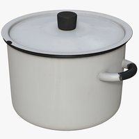 enameled saucepan 3D model