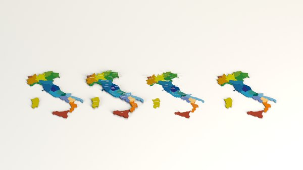 3D administrative regions country