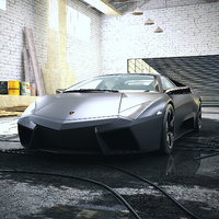 Car 001 - Lamborghini Reventon with Garage