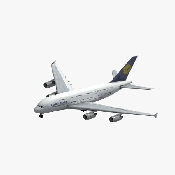 3D lufthansa a380 model