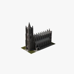 3D christian church model