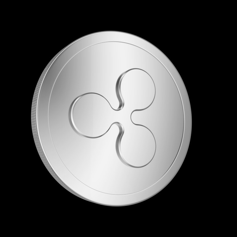 metallic coin ripple 3D model