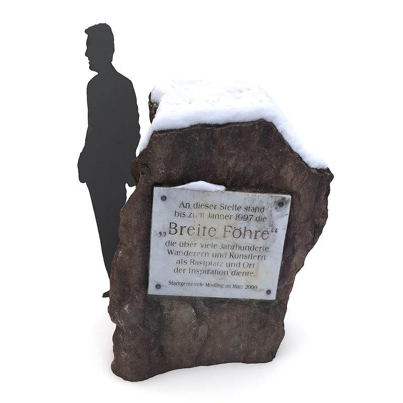 3D model scan rock snow