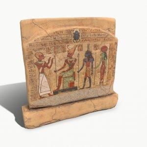 egyptian stone plate 2 3D model
