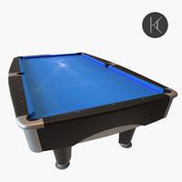 3D model brunswick metro pool table