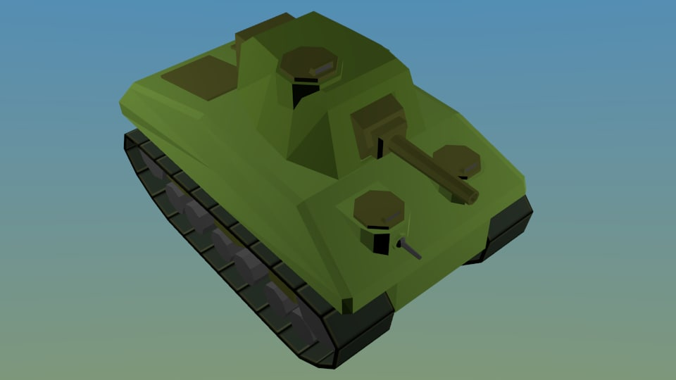 ww2 sherman tank 3D model