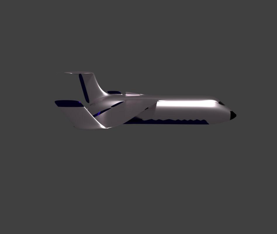 airplane aircraft future cargo 3D