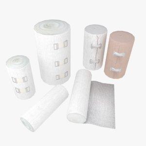3D bandage clips gauze model