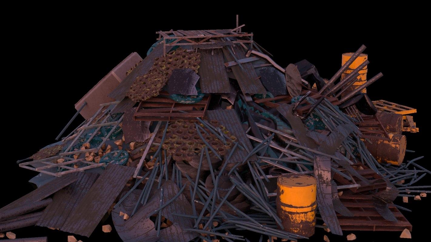 trash garbage 3D model