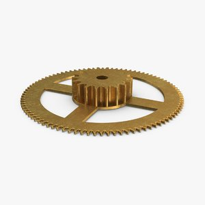 3D clock-gears-03---gear-v2 model