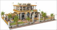 3D model bank bahamas