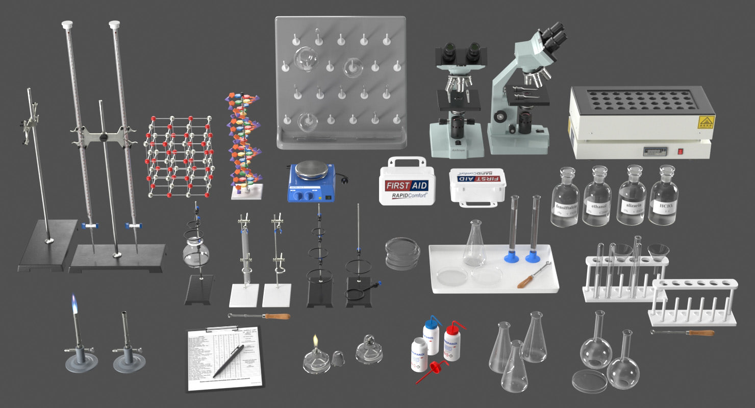 realistic laboratory equipment model