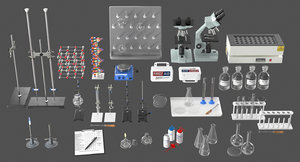 realistic laboratory equipment model