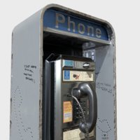 used phone booth 3D model