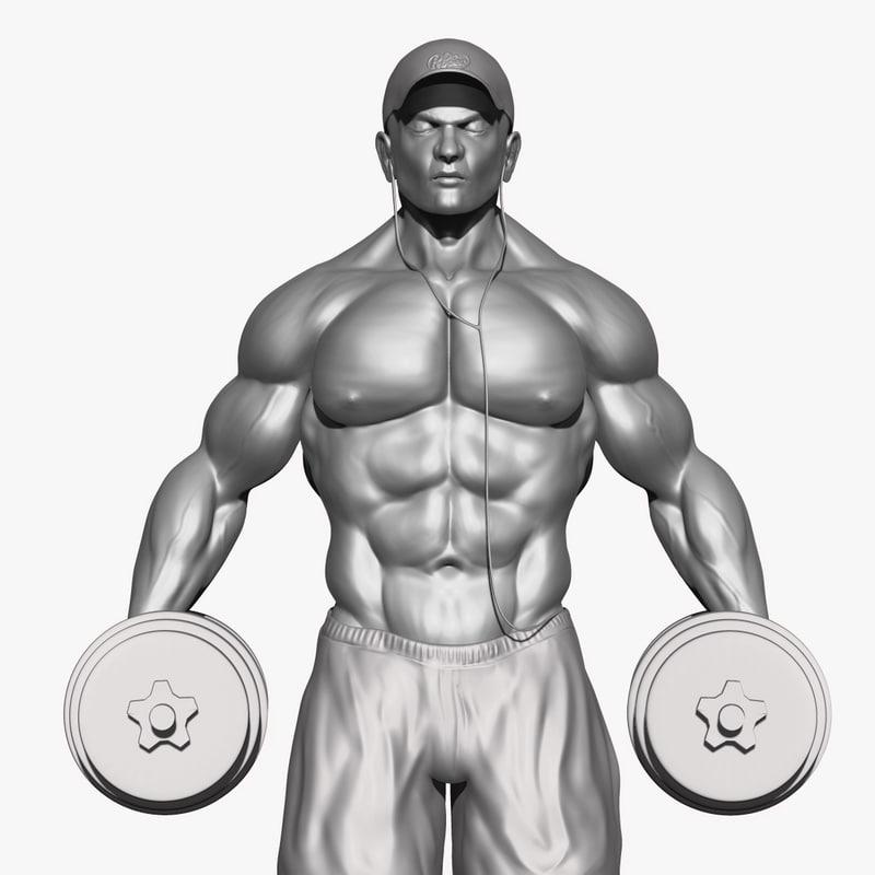 weight body 3D model
