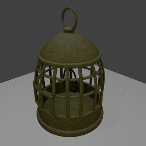 3D model bird cage